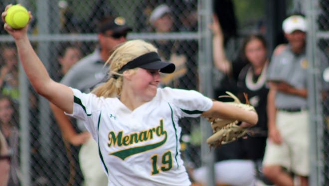 Menard junior pitcher Jensen Howell (#19) is the second Central Louisiana player to win the Louisiana Gatorade Player of the Year.
