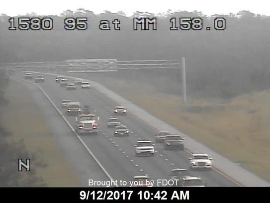 Traffic on I-95 in Indian River County Sept. 12, 2017