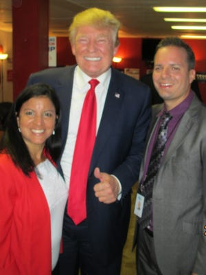 Donald Trump, Ivette and Paul Lodato General Manager at CT10