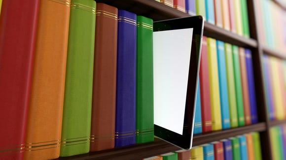 ipad, books