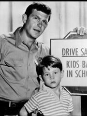 "Andy Griffith and Ron Howard from ""The Andy Griffith Show."""
