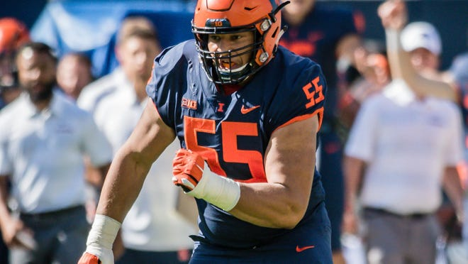 Illlinois offensive lineman Kendrick Green heads into the Big Ten Conference season excited about his football future -- which likely includes him playing in the NFL.