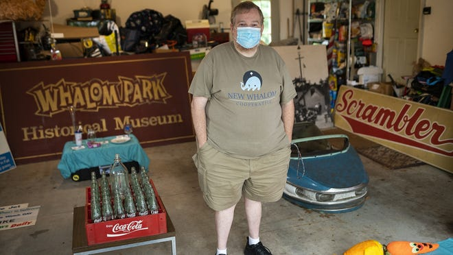 Scott Lanciani, of the New Whalom Cooperative, has been collecting items from Whalom Park over the years in hopes of starting a pop-up museum in the future. Friday, Sept. 4 was the 20th anniversary of the Lunenburg amusement park's closing.