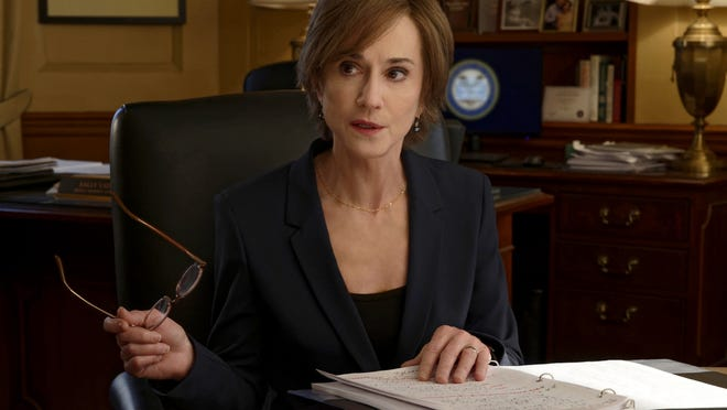 """Holly Hunter as Sally Yates in a scene from """"The Comey Rule."""""""