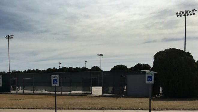 The tennis court behind McNiel Middle School is quiet these days as the Wichita Falls ISD works to complete a revamp of the 10 tennis courts at McNiel and Hirschi.
