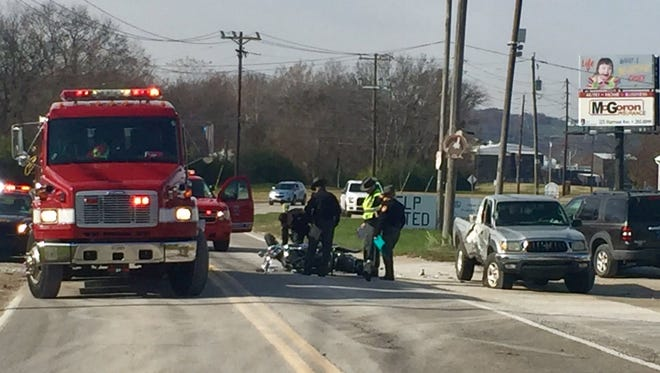One person was killed Friday in a Hamilton County crash involving a motorcycle.