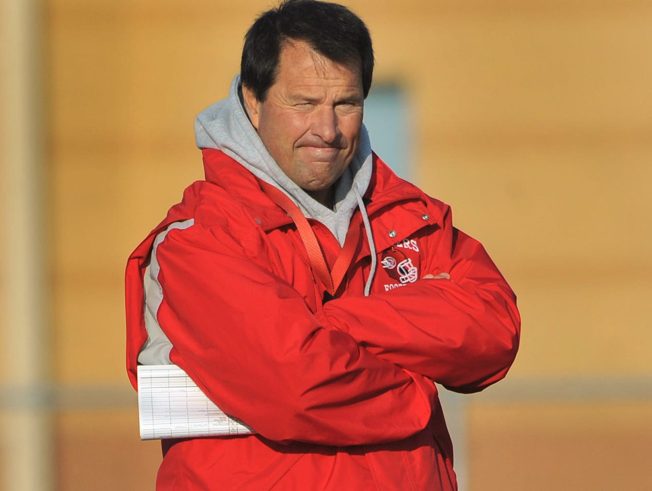Fishers High School football head coach Rick Wimmer at practice Wednesday November 7, 2012. Joe Vitti / The Star
