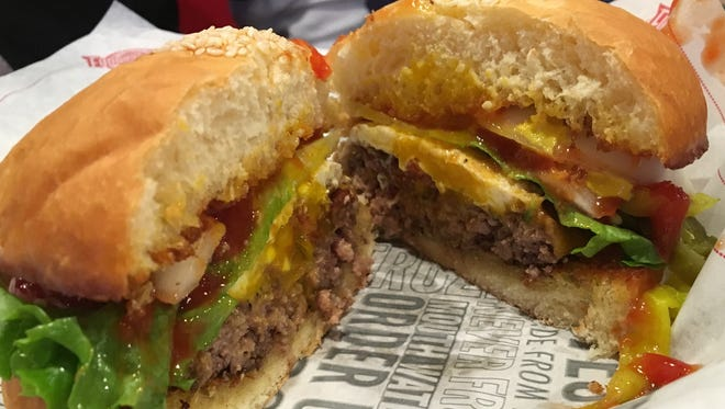 The Hangover burger from Fuddruckers in south Fort Myers.
