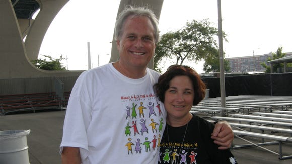 Bob Brown with former Al's Run race director Linda Schieble in 2008.