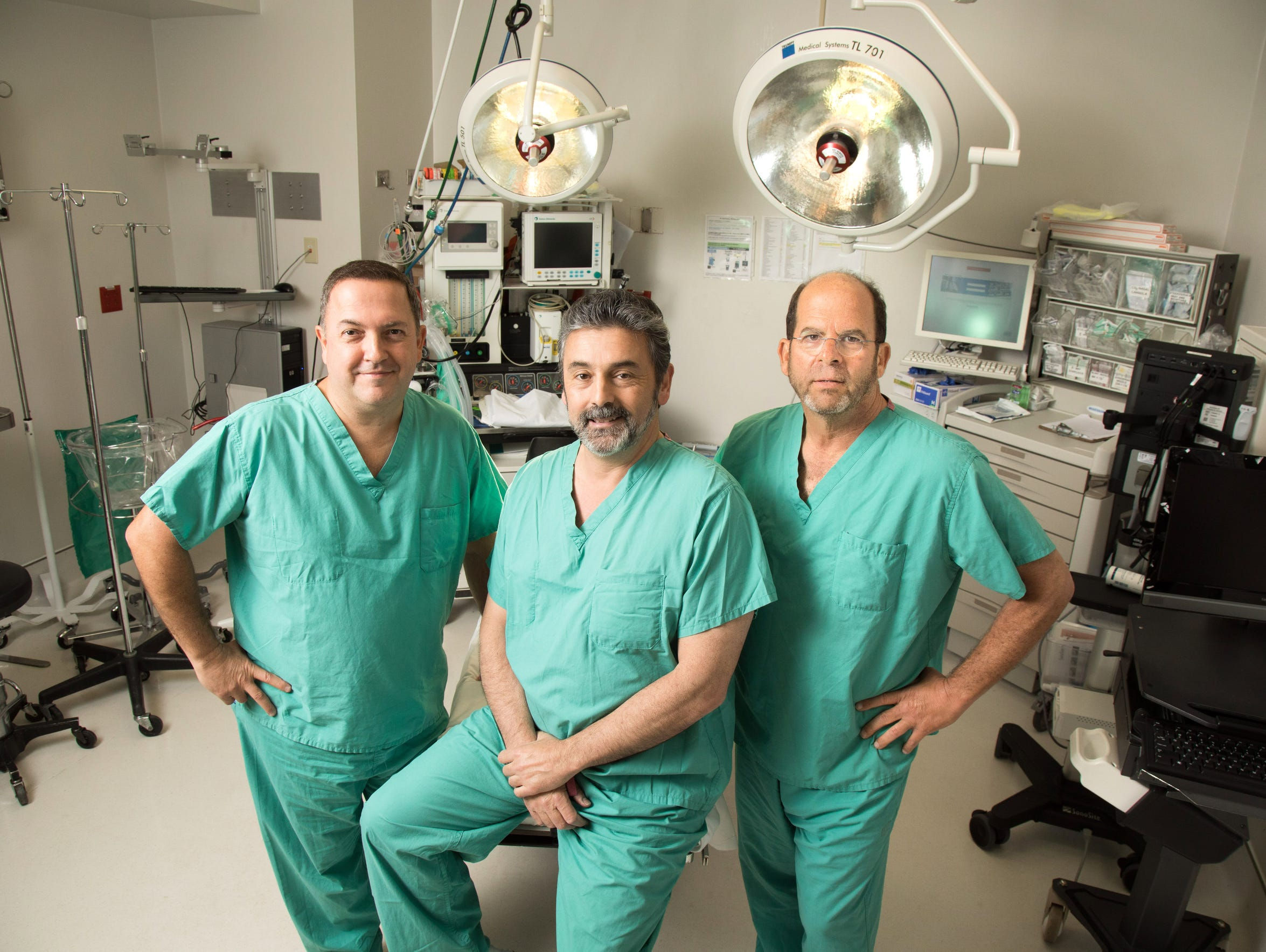 From left, doctors Anthony Georges, John Gallucci and