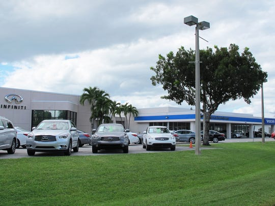 Bonita Springs Infiniti and Volvo of Bonita Springs on U.S. 41 just north of the Lee-Collier county line plan to relocate these car dealerships this year to new buildings under construction on Naples Boulevard in North Naples.