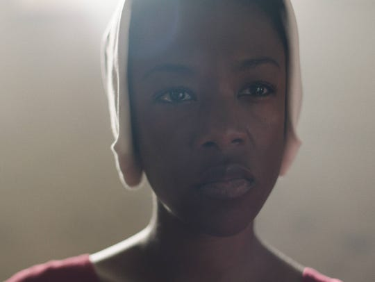 "Samira Wiley in ""The Handmaid's Tale."""