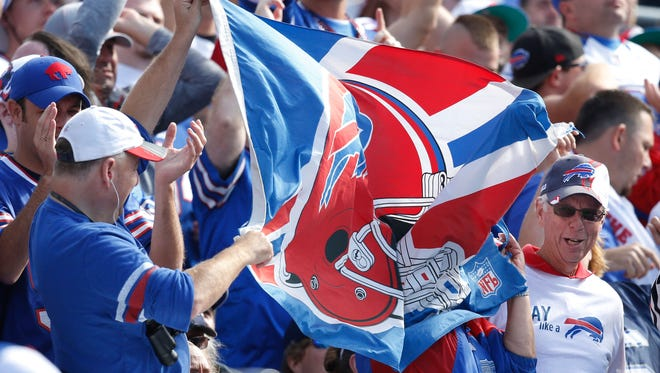 Bills fans celebrate a touchdown against the Chargers during Week 3.
