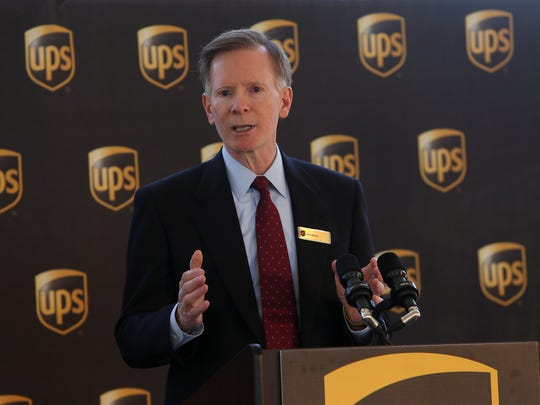 UPS Senior Vice President and Chief Information Officer Dave Barnes speaks before the groundbreaking for the new UPS Technology complex, a 200,000 square foot building sitting on more than 20 acres of land off Cherry Hill Road. March 29, 2016. Parsippany, N.J.