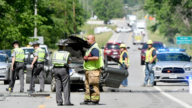 A head-on collision at the Ashland and Richland County line involving two cars closed the road Friday afternoon. Multiple injuries were reported and victims were transported.
