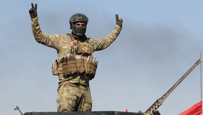 An Iraqi soldier near Fallujah on May 26, 2016.