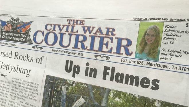 The Civil War Courier newspaper published Madeleine Roberts' fiction submission.