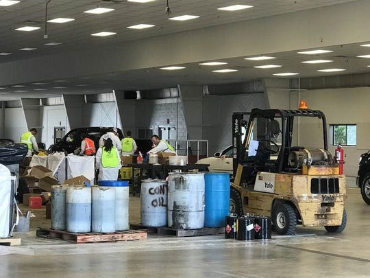 The Clean Sweep collected more than six and a half tons of hazardous chemical waste. Veolia Environmental Systems sorted the items and disposed of them safely, keeping them out of county drains and landfills.