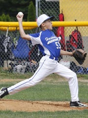 Adrian Solometo delivers a pitch for Horseheads in