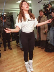 Alicia Machado is photographed during a workout during
