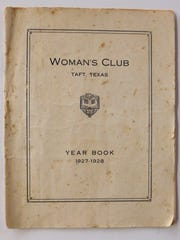 A Woman's Club yearbook. The Women's Club in Taft founded the Taft Library, which is celebrating it's 90th anniversary on Saturday, April 1.