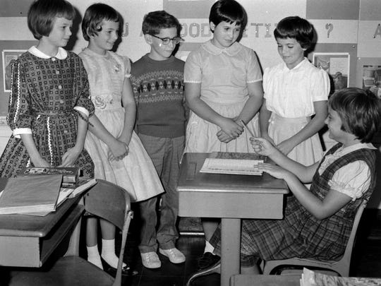 Panther Road School celebrates a Constitution Day program in 1961.