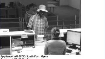 CCTV footage from Wells Fargo bank robbery.