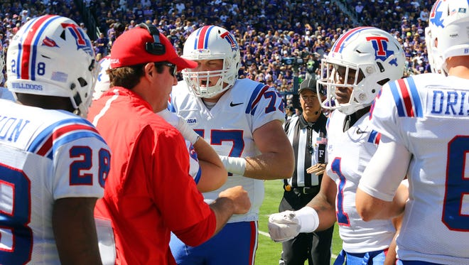Louisiana Tech's Tim Rattay, pictured on the sideline against Kansas State, takes over as the Bulldogs' new quarterbacks coach for 2016.