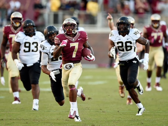 Mario Pender took reps with the first team in with Cook out. That could prove beneficial for FSU in 2015.