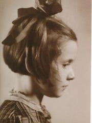 Marion Blumentahl Lazanat, age 7, at Camp Westerbork