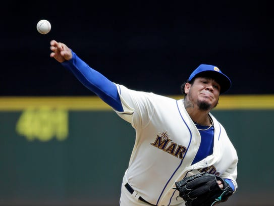 A strong second half by starter Felix Hernandez would