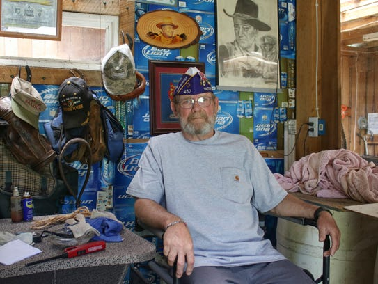 Retired 1st Sgt. David Ross fought in both the Vietnam
