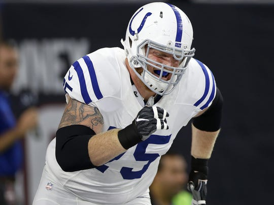 Jack Mewhort will miss the rest of the 2017 season.