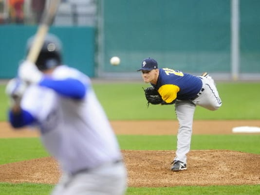 York left-hander Chris Cody entered the All-Star break tied for the league lead with 75 strikeouts (YDR File).