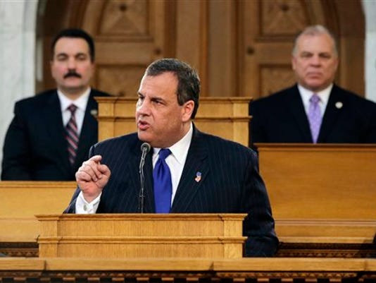 Chris Christie, Vincent Prieto, Stephen M. Sweeney