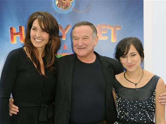 Robin Williams, Susan Schneider, Zelda Williams