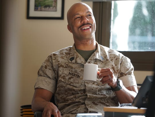 Common, who plays Gunny Martin in the film, opens up