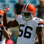 Browns linebacker Karlos Dansby has returned to practice despite being two weeks removed from sprained knee ligaments.