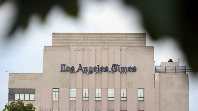 Tronc, formerly Tribune Publishing, owns the 'Los Angeles Times' and 10 other dailies.