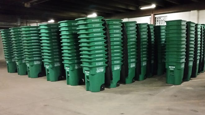 The city of Wisconsin Rapids will deliver the wheeled recycling carts for its new automated, singlestream recycling program through Dec. 16.