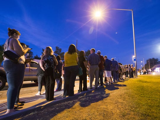 Voters at a Mesa church waited about three hours to