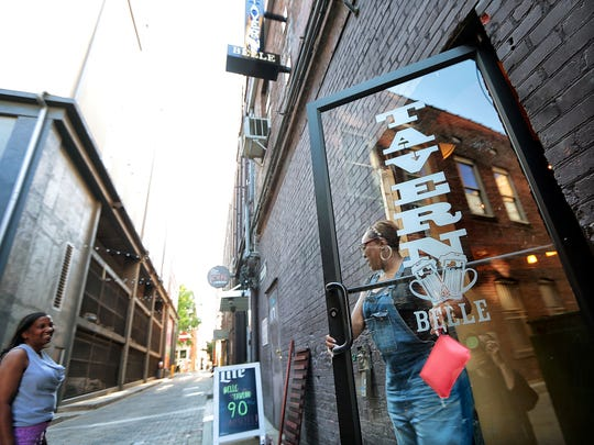 Barboro Alley is one of Downtown Memphis' busier alleyways, thanks in part to the out-of-the-way entrance to Belle Tavern. The Downtown Memphis Commission hopes to enliven other alleyways in the area with artwork, stamped paving and lights.