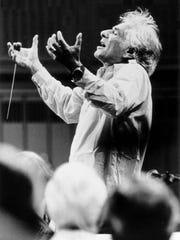 Leonard Bernstein conducting.