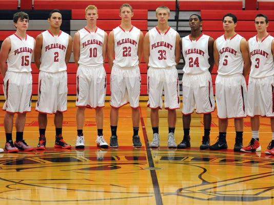 2014-15 Pleasant boys basketball team