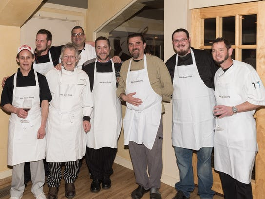 Members of the White Apron Society, including third from left, Brendan Gochenour, turned out for a previous event.