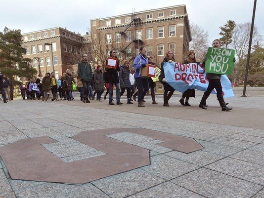 MSU, Rape, Demonstration, Protest, George Will