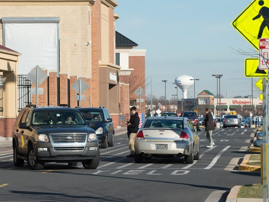 Vehicles in front of the Walmart located in the Westown Town Center in Middletown in a News Journal file photo.