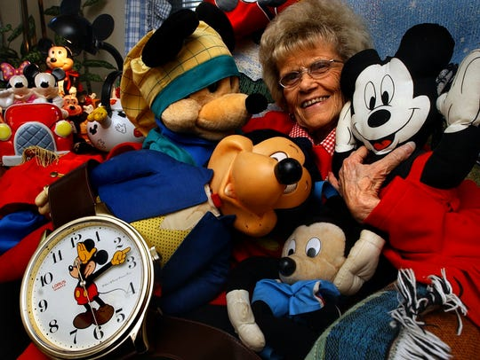 Gloria 'Mickey' Kauffman with part of her collection