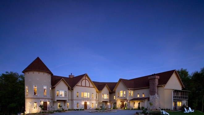 The Goldmoor Inn is a blufftop bed and breakfast near Galena, Ill.