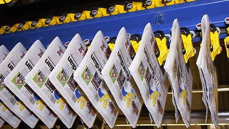 Newspapers on the press
